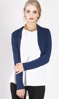 Bolero Cropped Jacket - Navy