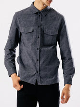Grey Brushed Cotton Shirt