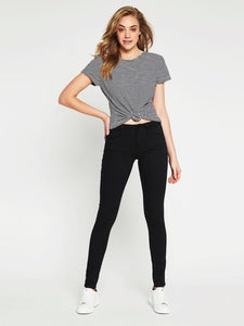 Mavi - Alexa Skinny in Double Black Gold Reform