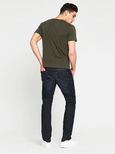 Mavi - Marcus Slim Jeans in Deep Brushed White Edge