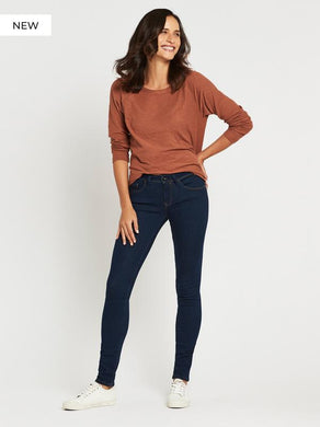 Mavi - Alexa Skinny in Shaded Rinse Gold Lux Move