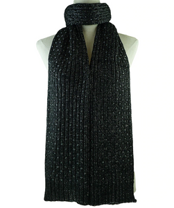 Black Basketweave Scarf