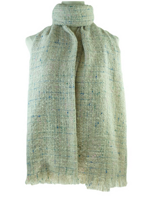 Woven Textured Grey Scarf