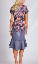 Floral Body Con Frill Hem Dress