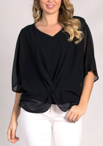 Knot Front Layered Top