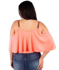 Plus Size Ruffle Top Bodysuit