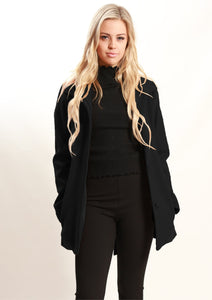 Black Jacket with Tie Waist