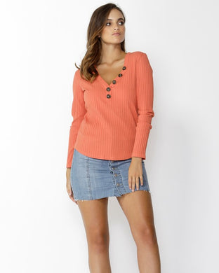 SASS Dream Chaser Buttoned Top - Amber