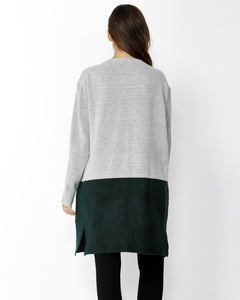 SASS Always Mine Spliced Cardigan - Grey