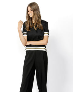 Chemistry Stripe Trim Top