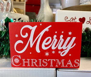 Wooden Sign - Merry Xmas