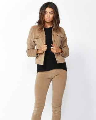 Betty Basics Lewis Corduroy Jacket - Tan