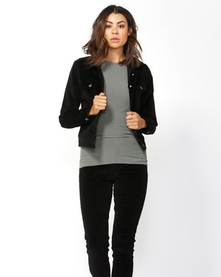 Betty Basics Lewis Corduroy Jacket - Black