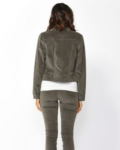 Betty Basics Lewis Corduroy Jacket - Khaki