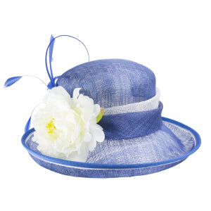 Jasmine Cobalt/Ivory  Dress Hat