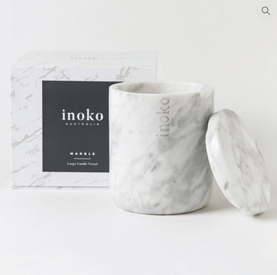 Inoko Marble Large Candle Vessel