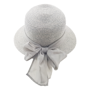Braided Dress Hat - Grey, Natural or Ivory
