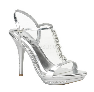 Pleaser USA Silver Bling Heels