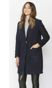 Navy Pop Art Coat