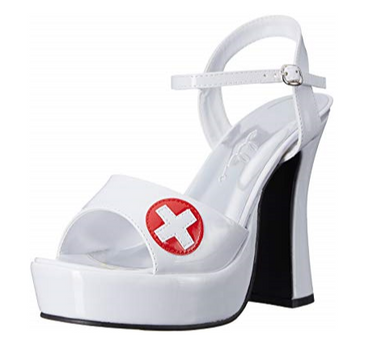 Nurse Dolly10 White Shoes