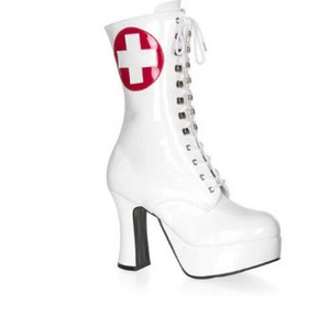 Nurse Mid Calf White Boots