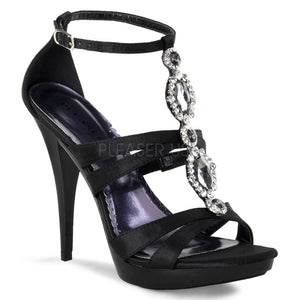 Pleaser USA Black Satin Shoes