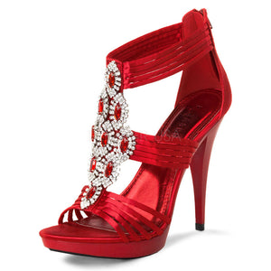 Pleaser USA Red Satin Shoes