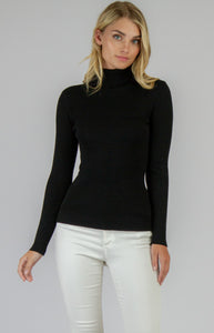 High Neck Fitted Basic Top - 5 Colours
