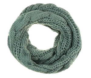 Cable Snood Grey