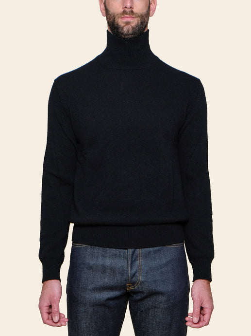 Black Lambswool Turtleneck