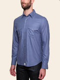 Blue Cashmere Shirt