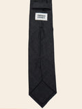 Charcoal Wool Sevenfold Tie