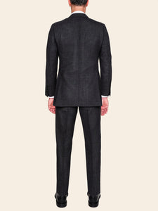 Charcoal High Twist Wool Suit