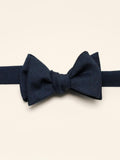 Navy Kid Mohair Bow Tie