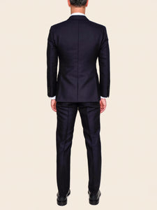 Navy Wool/Mohair Suit