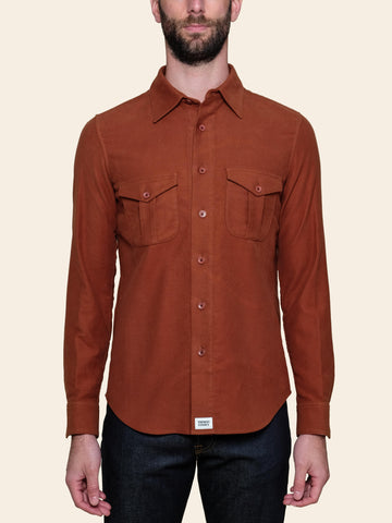 Rust Moleskin Shirt