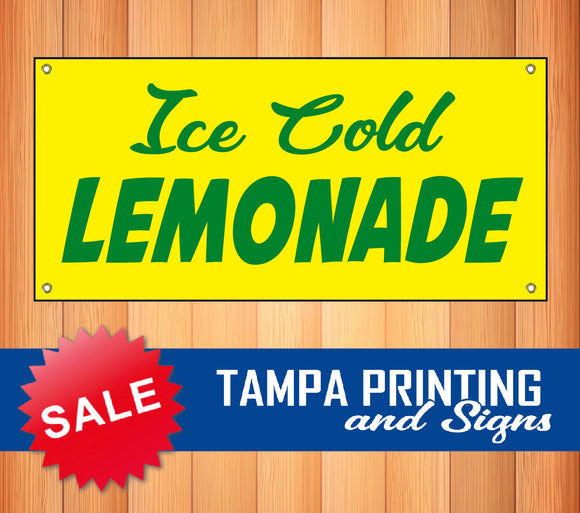 Ice Cold Lemonade Banner