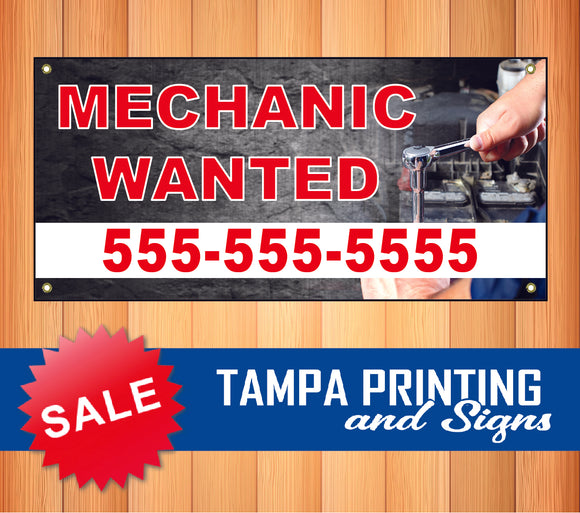 Mechanic Wanted Phone Banner