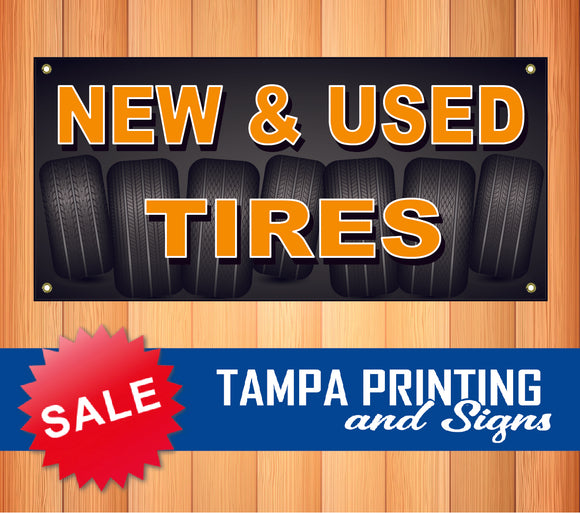 New and Used Tires Banner
