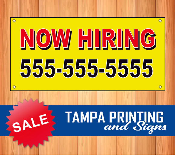 Now Hiring with Phone Banner