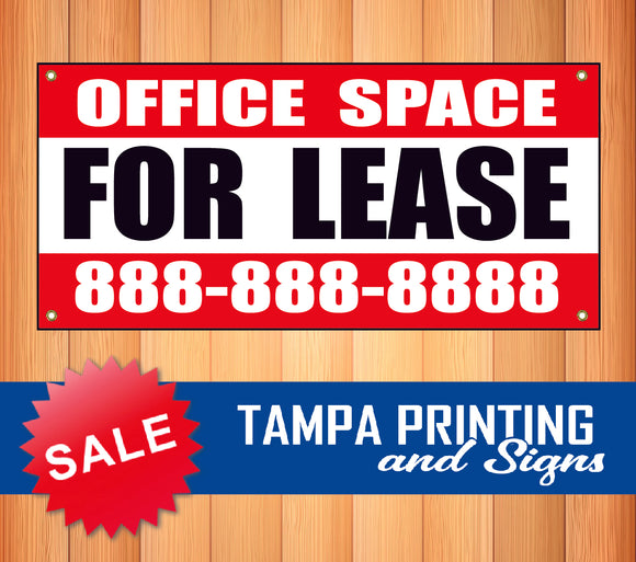 Office Space for Lease Phone Banner