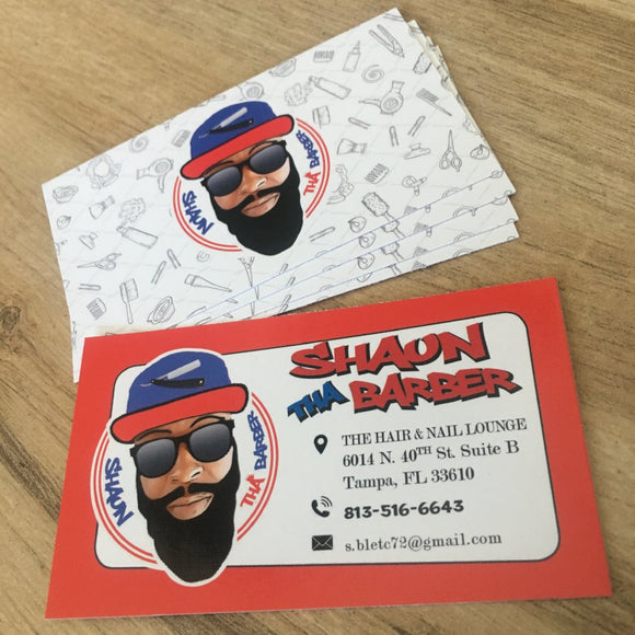 Business Cards for Shaun the Barber