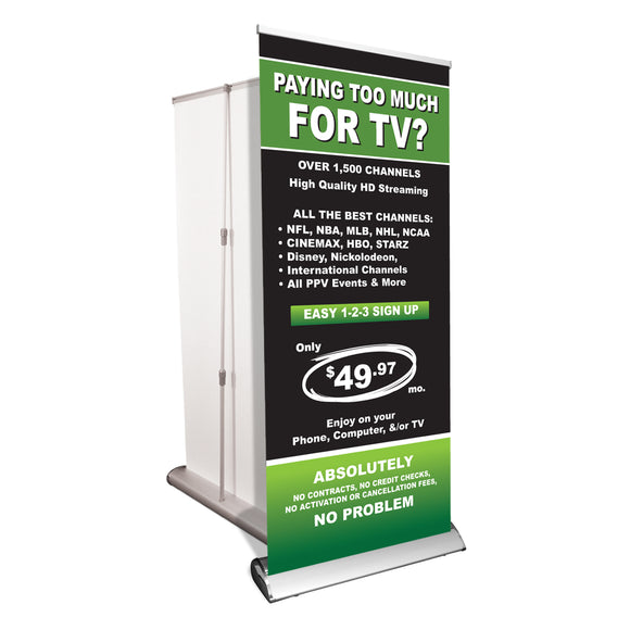 Premium Retractable Banner Stand with Graphic
