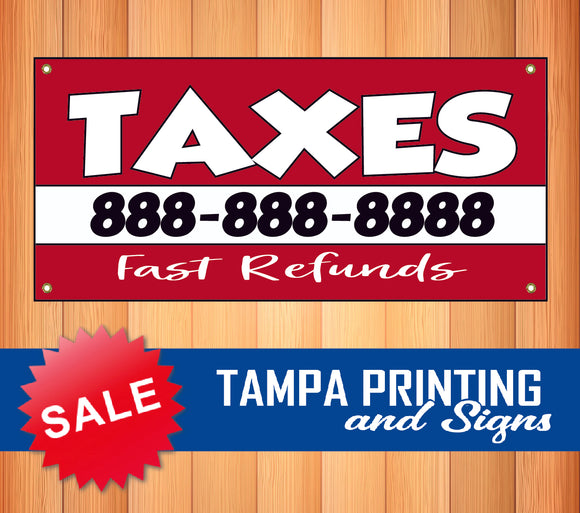 Taxes Fast Refund Phone Number Banner