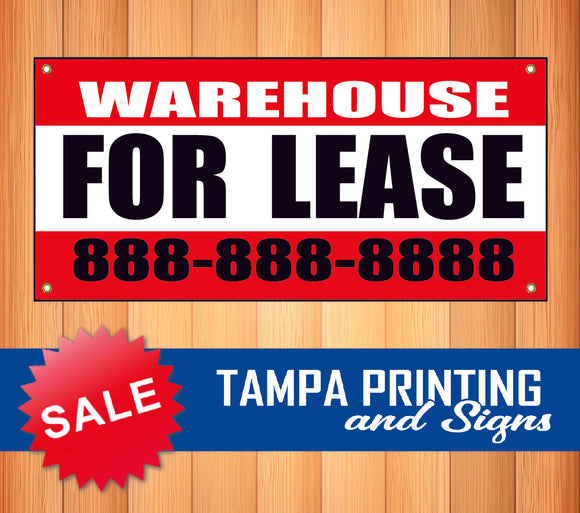 Warehouse for Lease Phone Banner
