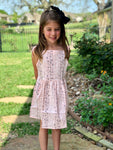 Flower Striped Princess Dress