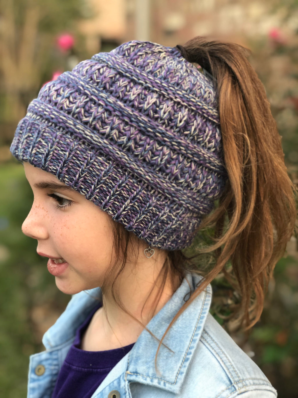 Pony Tail Beanie (Ages 8 - 16)