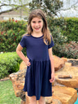 Navy Baby Doll Dress