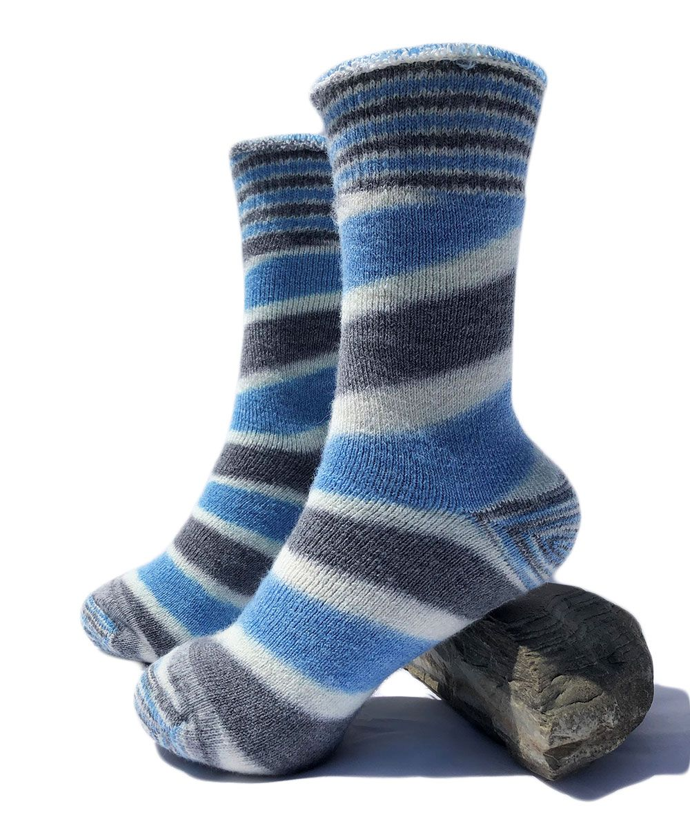 Reversible Outdoor Striped Alpaca Sock
