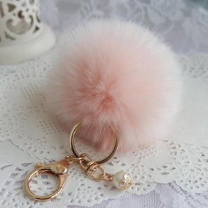 Fur Ball Key Ring Pendant